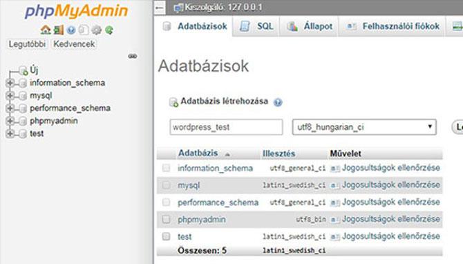 wordpress-adatbázis-készítése